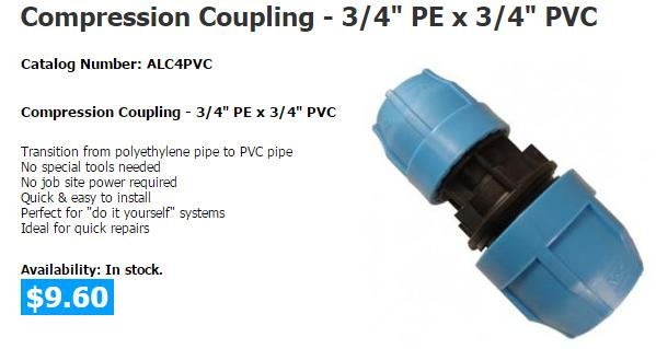 Compression fittings for PE loop pipe? | GeoExchange® Forum