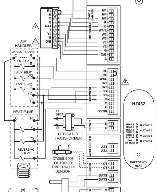 honeywell hz432 wiring diagram   30 wiring diagram images