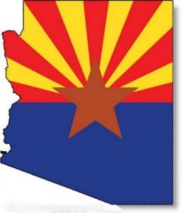 arizona-flag-map-outline